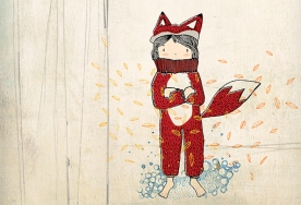 Kitsune / ilustración digital