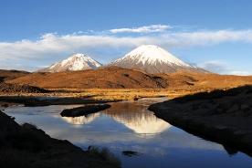 Volcanes Parinacota y Pomerape