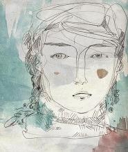 Retrato / lápiz y retoque digital