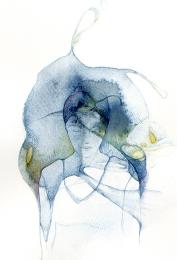 Azul / acuarela